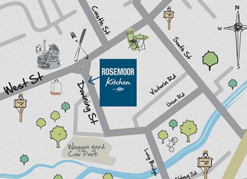 Farnham map of restaurants & cafes bars